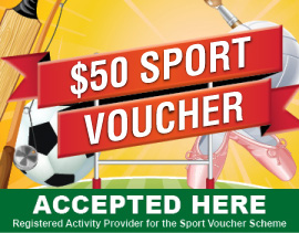 $50 Sports Voucher accepted